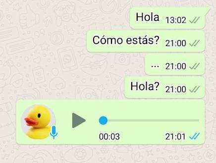 WhatsApp truco palomitas azules