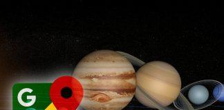 Google maps y planetas