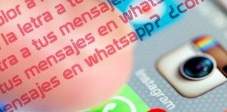 WhatsApp color letra
