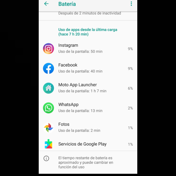 Apps consumir batería