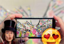 Willy Wonka pantalla sabores