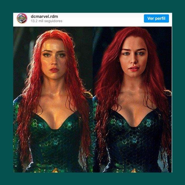 Emilia Clarke como Mera en Aquaman 2