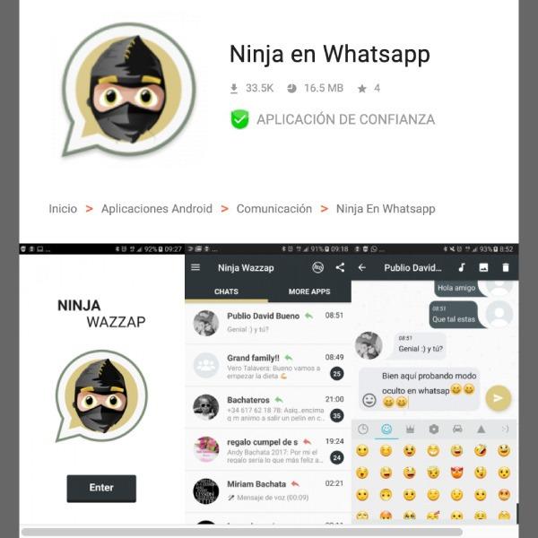 Cómo activar el 'modo ninja' en WhatsApp