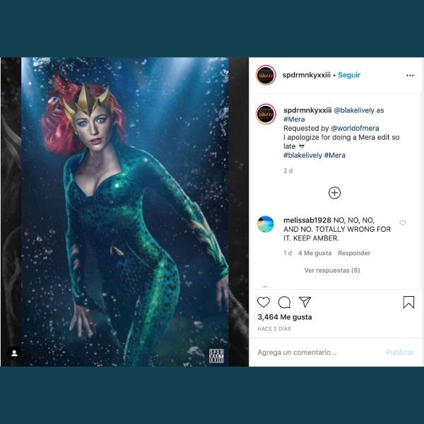 Blake Lively como Mera en 'Aquaman 2'