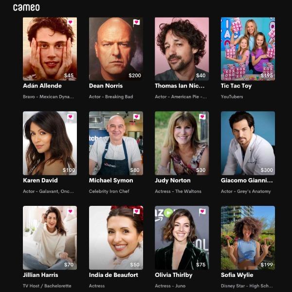 Cameo: la plataforma para tener videollamadas con famosos