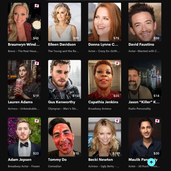 Cameo, la plataforma para tener videollamadas con famosos