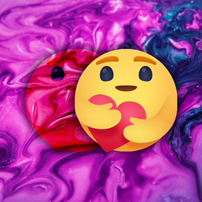 """conservar la reacción """"Me importa"""" en Facebook"""