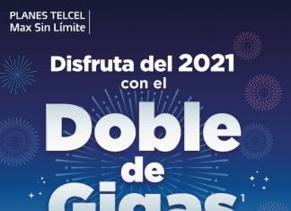 Disfruta del 2021 con el Doble de Gigas durante todo tu plazo contratado y los mejores smartphones, Planes Telcel Max Sin Límite.