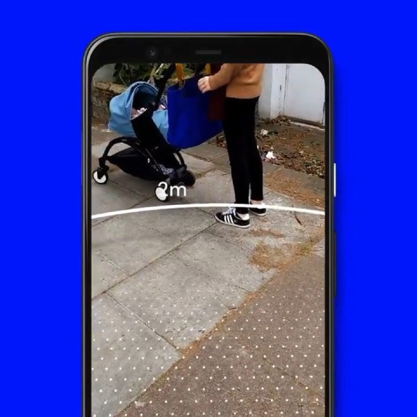 Sodar, app de Google para mantener distancia social. *Foto: Iproup