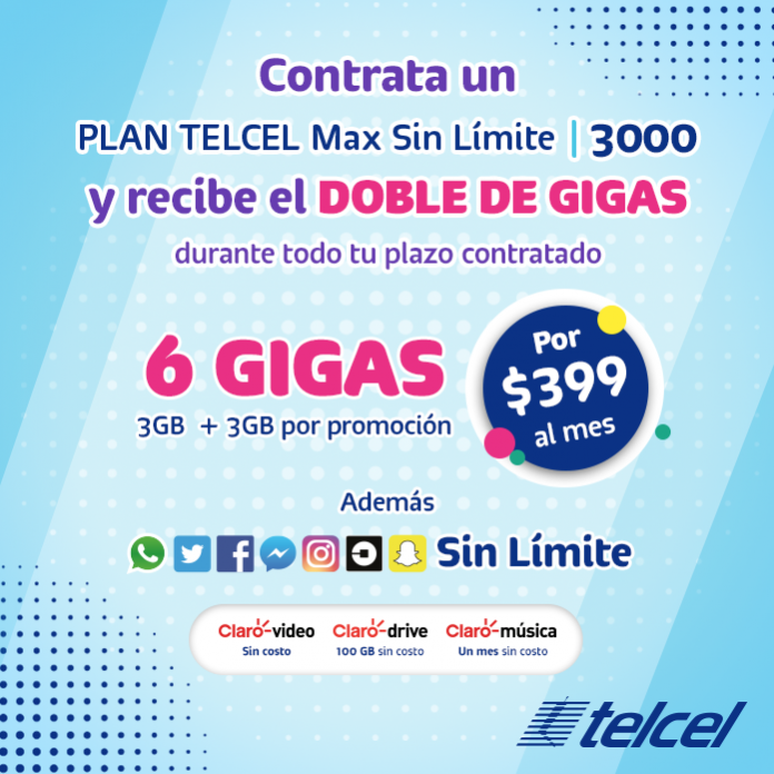 Conoce todos los beneficios de contratar un Plan Telcel Max Sin Límite 3000!
