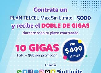 Contrata ahora un Plan Telcel Max Sin Límite 5000 y obtén estos beneficios