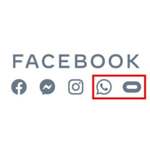 Logo misterioso Facebook WhatsApp Oculus
