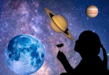 NASA Alineación Luna, Júpiter, Saturno