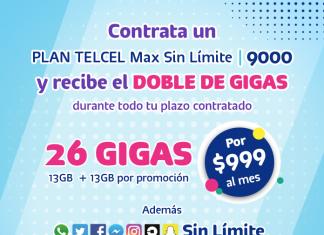Beneficios del Plan Telcel Max Sin Límite 9000