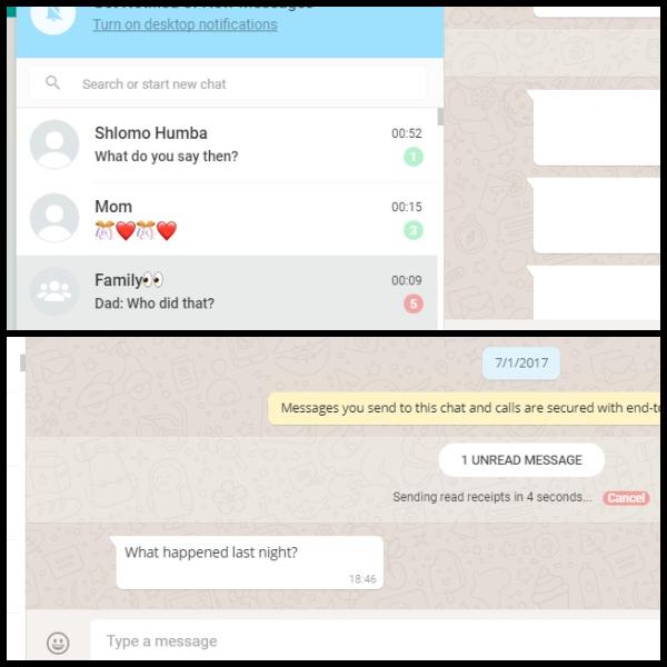 WhatsApp Web Modo invisible