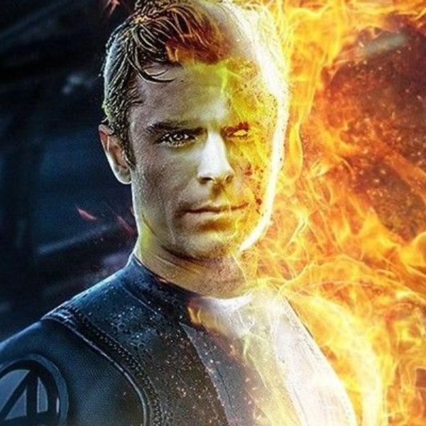 Zac Efron Marvel DC superhéroes Antorcha Humana