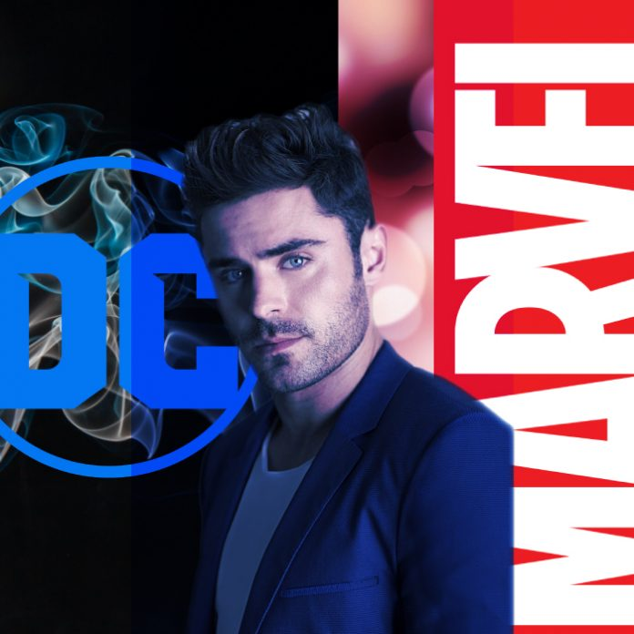 Zac Efron Marvel DC Superhéroes