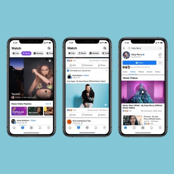 Facebook lanza sección de videos musicales