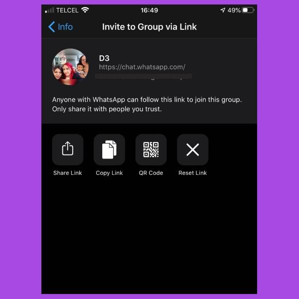Como invitar a un grupo de WhatsApp con un enlace o codigo QR