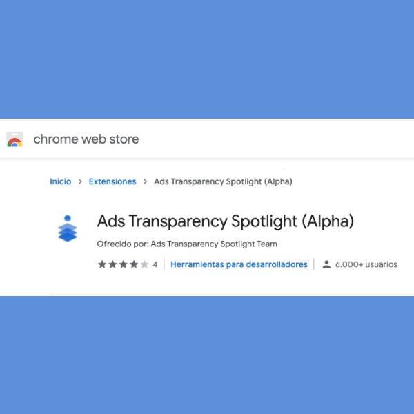 Google crea Ads Transparency Spotlight para limitar nuestros datos. *Foto: Redacción
