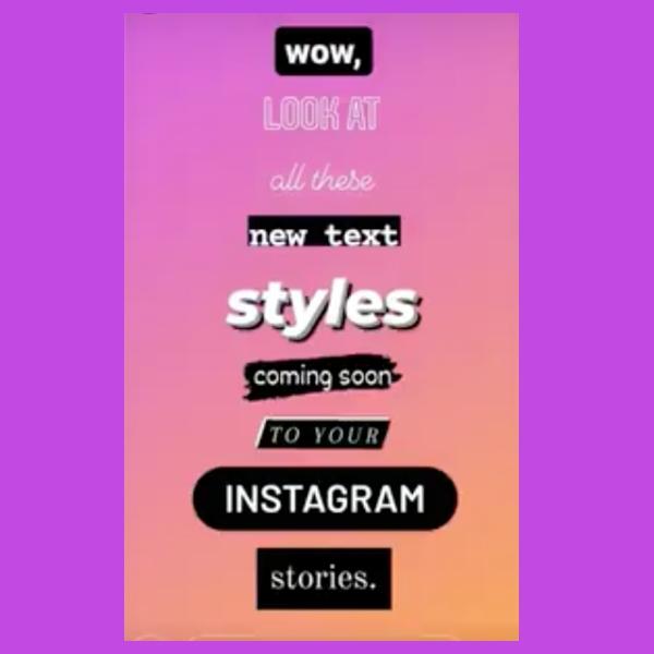 Nuevos tipos de letras en Instagram