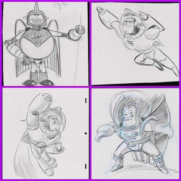 rimeros bocetos de Buzz Lightyear