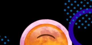 Cara de la Luna llena