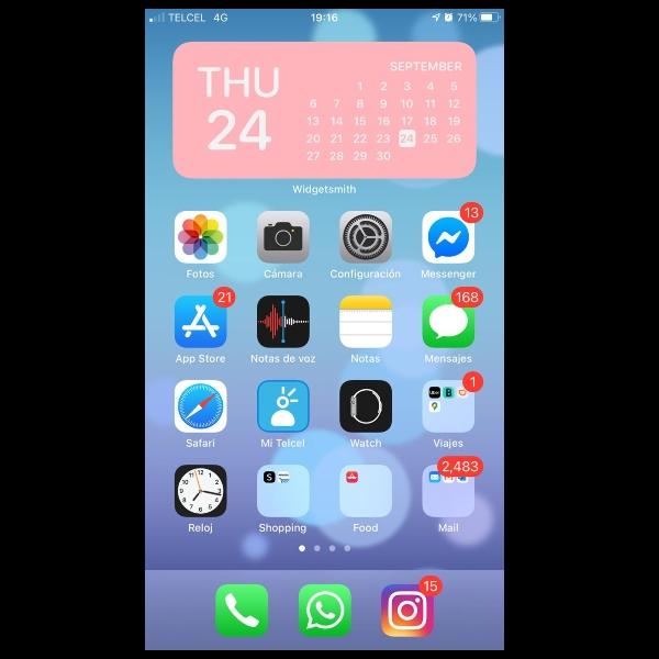 como crear wigets en iphone ios 14 con widgetsmith