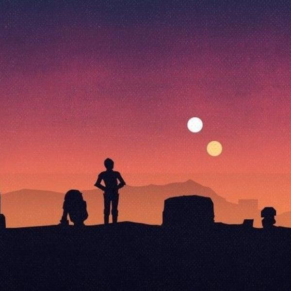 Star Wars visualización de la luna y la miniluna