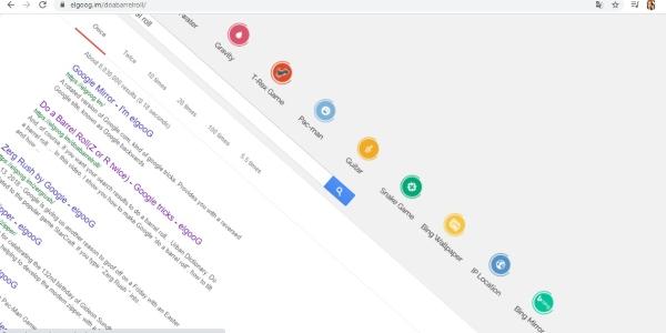 Secretos trucos Google do a barrell roll