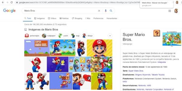Secretos trucos Google super mario bros