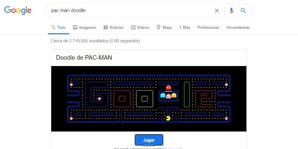 Secretos trucos Google pacman doodle