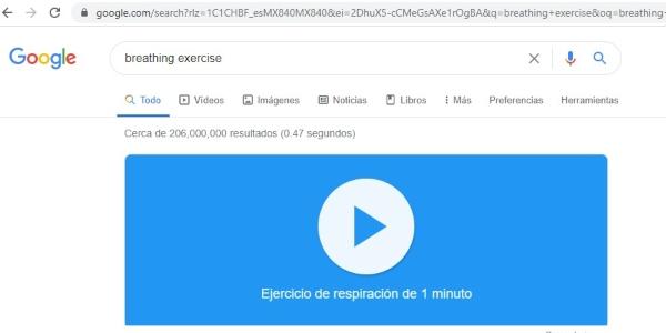 Secretos trucos Google breathing exercise
