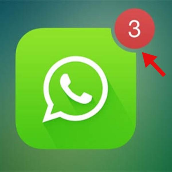 WhatsApp eliminar indicador rojo