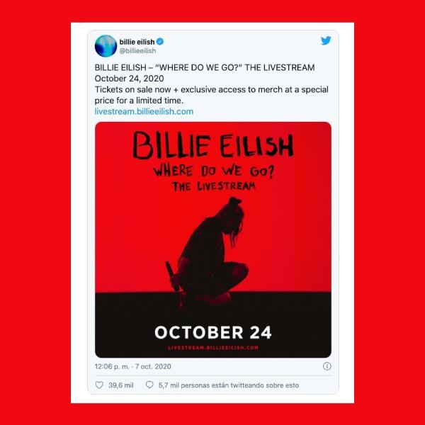 Where Do We Go? The Livestream concierto en línea de Billie Eilish