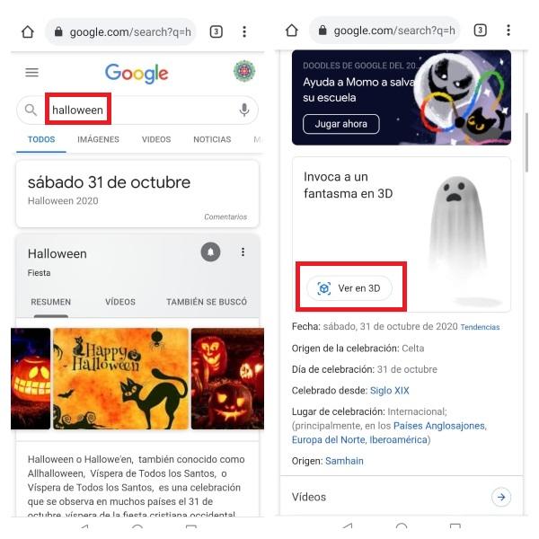 Google fantasma 3D