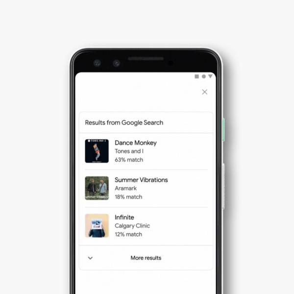 Buscador de Google tararear canciones