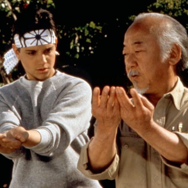 Daniel y Maestro Miyagi en Karate Kid