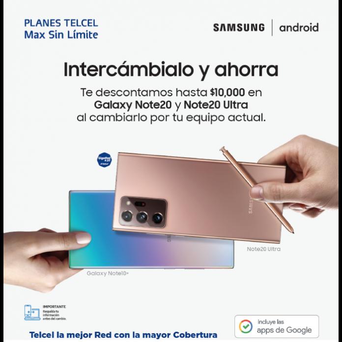 promocion de Samsung Cambia tu Smartphone