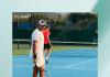 Jerry López tenista en la cancha