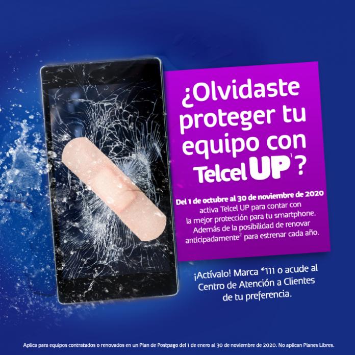 Ahora puedes proteger tu celular con Telcel UP extemporáneamente