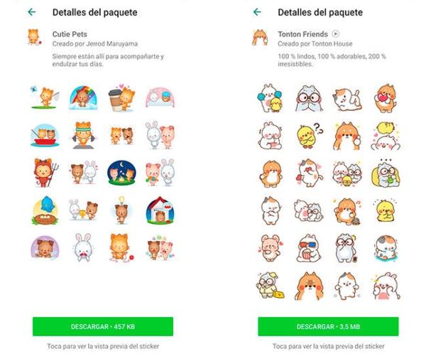 WhatsApp nuevos stickers animados