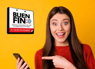 Chica con teléfono promociones Buen Fin bancos