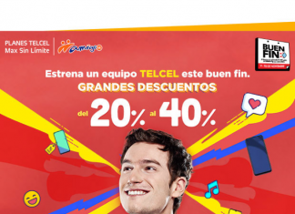Buen Fin Telcel smartphones y gadgets en promoción