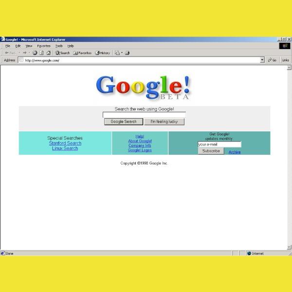 Extensión para usar la versión de Google de 1998