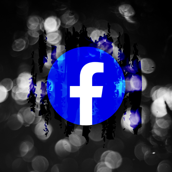 logo facebook modo oscuro en celulares