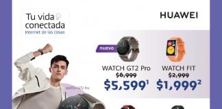 Huawei smartwatches en promocióm Buen Fin Telcel