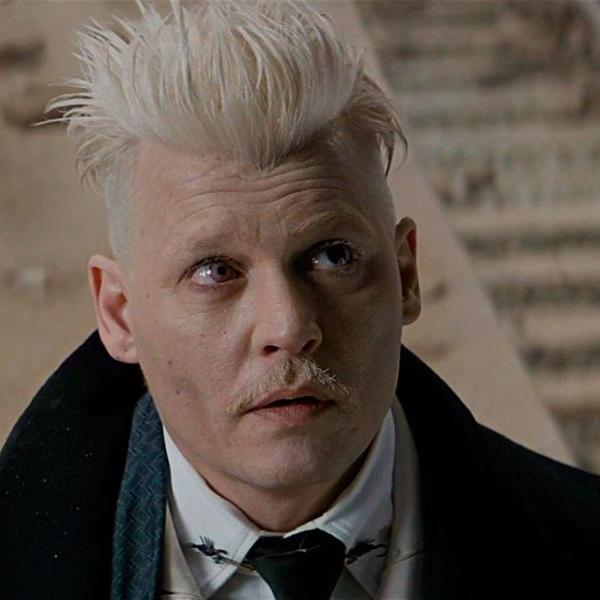 Primera aparición de Johnny Depp como Grindelwald