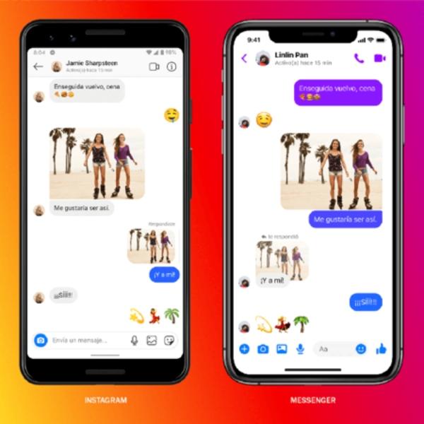 Fusión Facebook Messenger e Instagram modo efímero