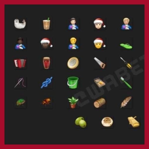 nuevos emojis de navidad de whatsapp